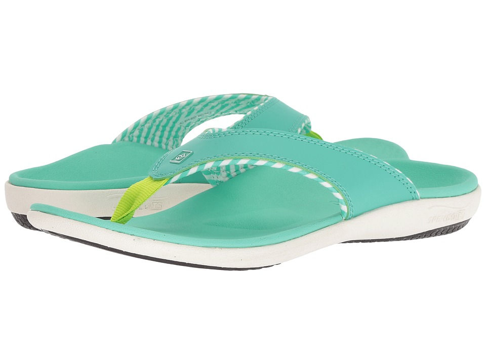Spenco Yumi Candy Stripe Sandal (Spearmint) Women's Shoes