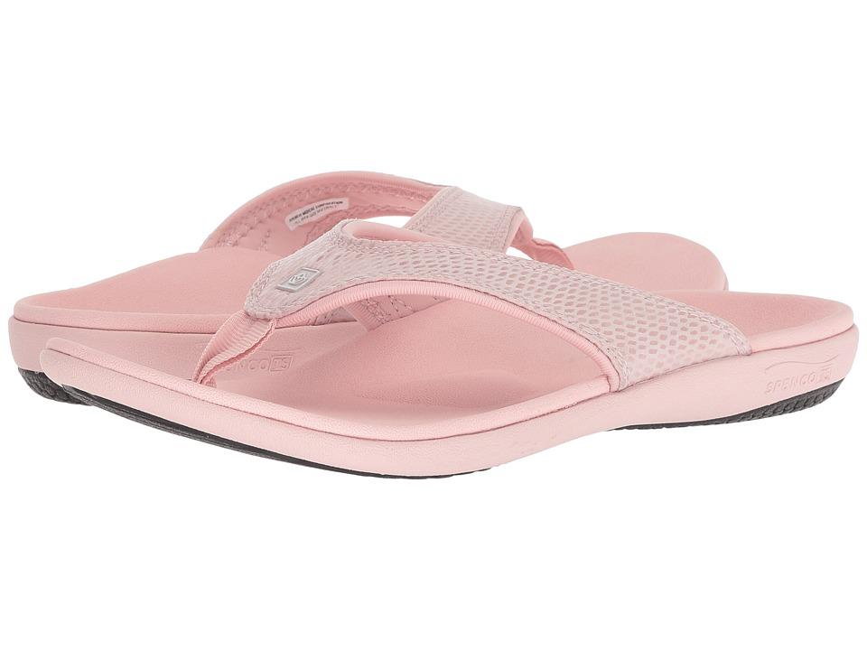Spenco Yumi Snake Sandal (Pink) Women's Shoes