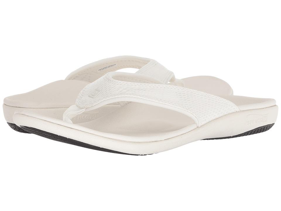 Spenco Yumi Snake Sandal (White) Women's Shoes