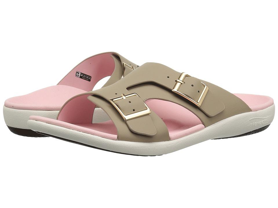 Spenco Brighton Slide Sandal (Light Taupe) Women's Shoes