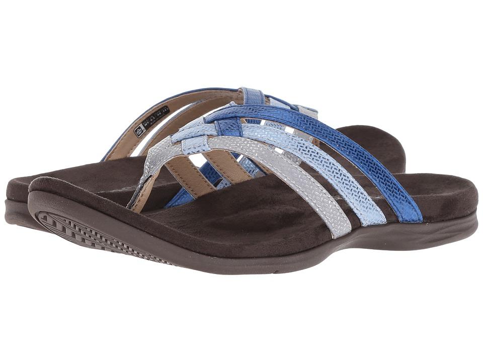 Spenco Triple Strap (Blue/Silver) Women's Shoes