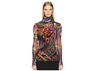 FUZZI Long Sleeve T-Neck with Embroidery