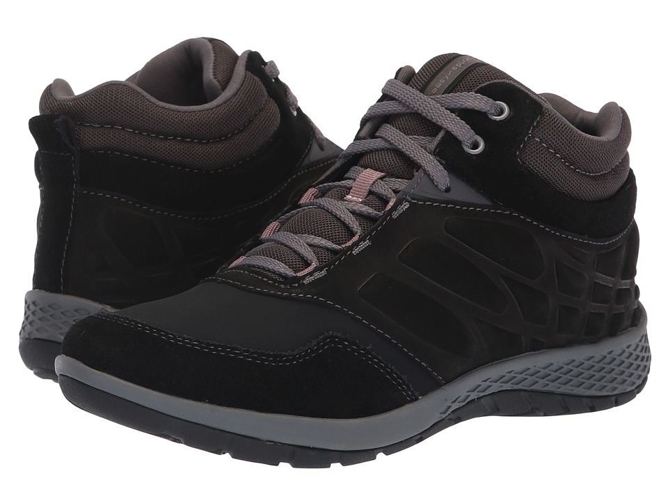 Easy Spirit Plank 8 (Black/Black/Pavement/Black37) Women's Shoes