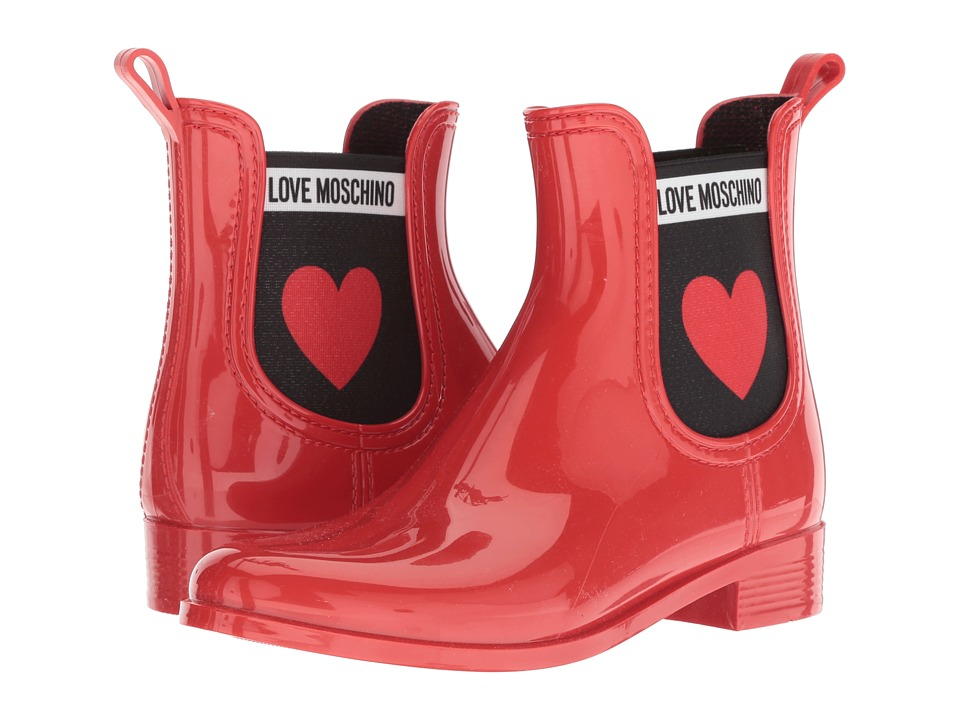 LOVE Moschino Rain Boot (Red) Women's Rain Boots