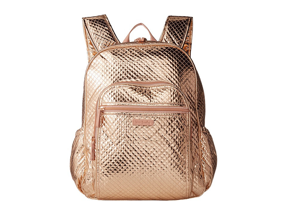 Vera Bradley Iconic Campus Backpack Rose Gold Shimmer Bags