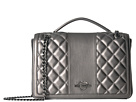 LOVE Moschino Quilted Metallic Shoulder Bag Chain Strap