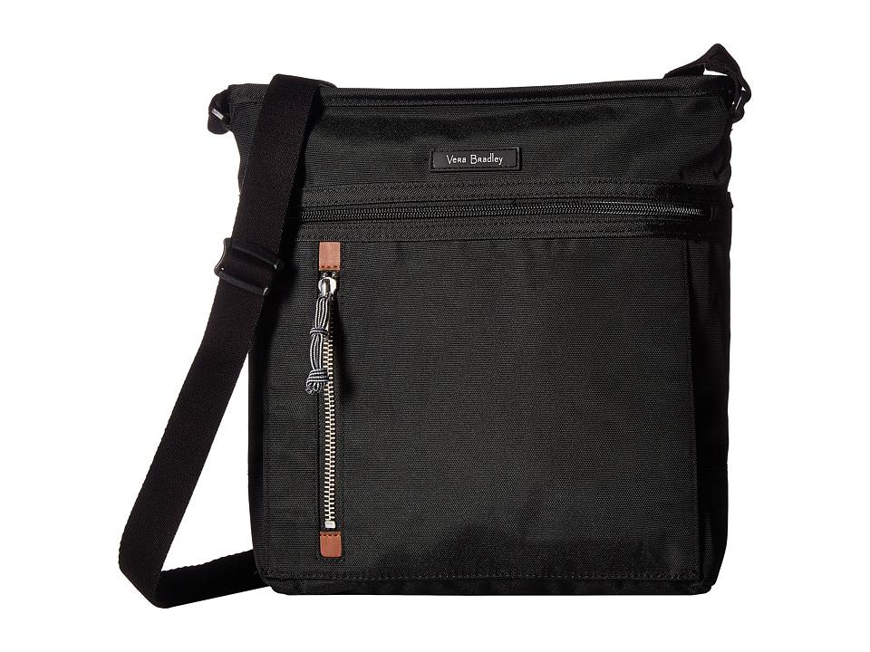 Vera Bradley - Lighten Up Travel Ready Crossbody (Black) Cross Body Handbags
