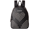 LOVE Moschino Leather Backpack with Studs