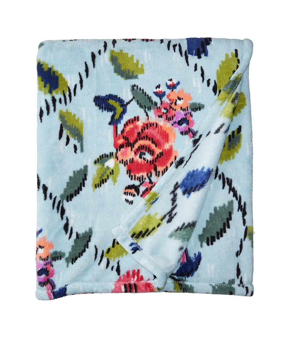 Vera Bradley - Throw Blanket (Water Bouquet) Blankets