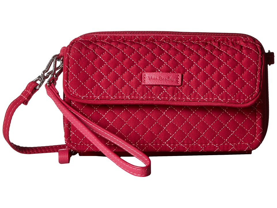 Vera Bradley - Iconic RFID All-In-One Crossbody (Passion Pink) Cross Body Handbags