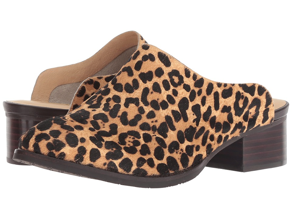 Sbicca Damsel (Black/Leopard) Women's Clog/Mule Shoes