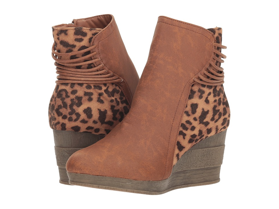 Sbicca Alexandria (Tan/Leopard) Women's Pull-on Boots