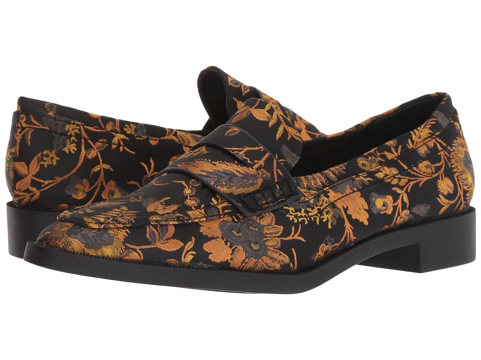 Sbicca Jennifer (Black/Yellow Multi) Slip-On Shoes
