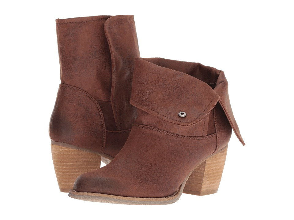 Sbicca Nicola (Brown) Women's Pull-on Boots