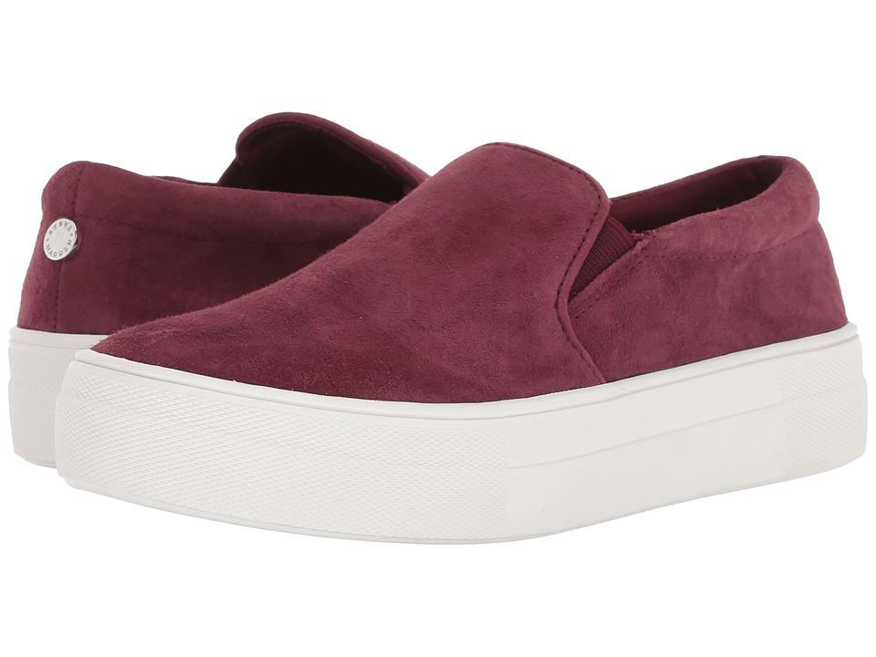 Steve Madden Gills Sneaker (Burgundy Suede) Women's Shoes