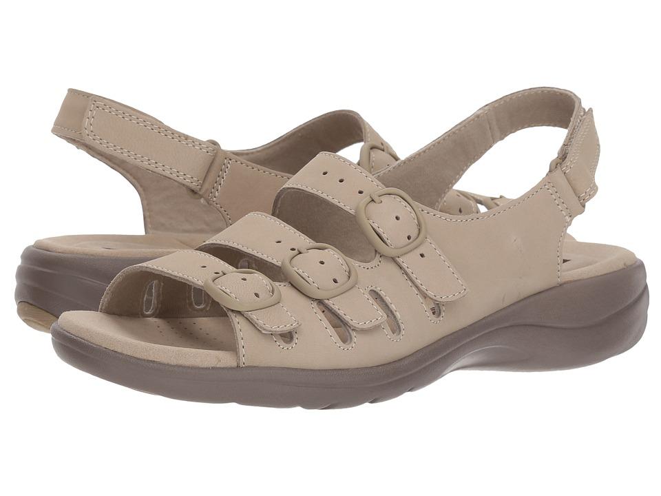 Clarks - Saylie Quartz (Sand Nubuck) Womens Sandals