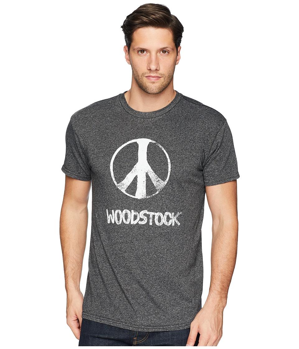 The Original Retro Brand - Peace Woodstock Mocktwist Tee (Mocktwist Black) Mens T Shirt
