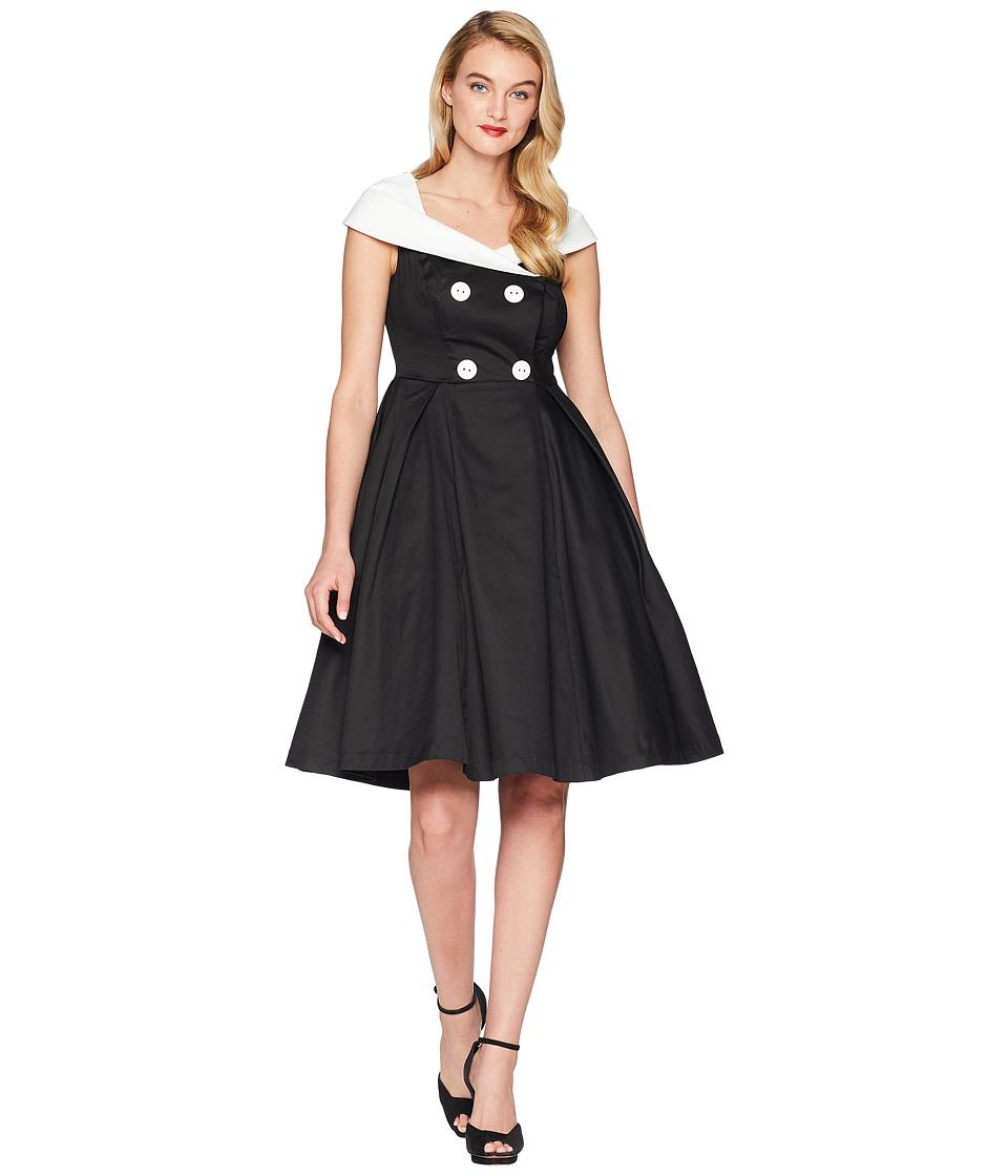 Unique Vintage - Barbie x UV After Five Swing Dress (Black/White) Womens Dress