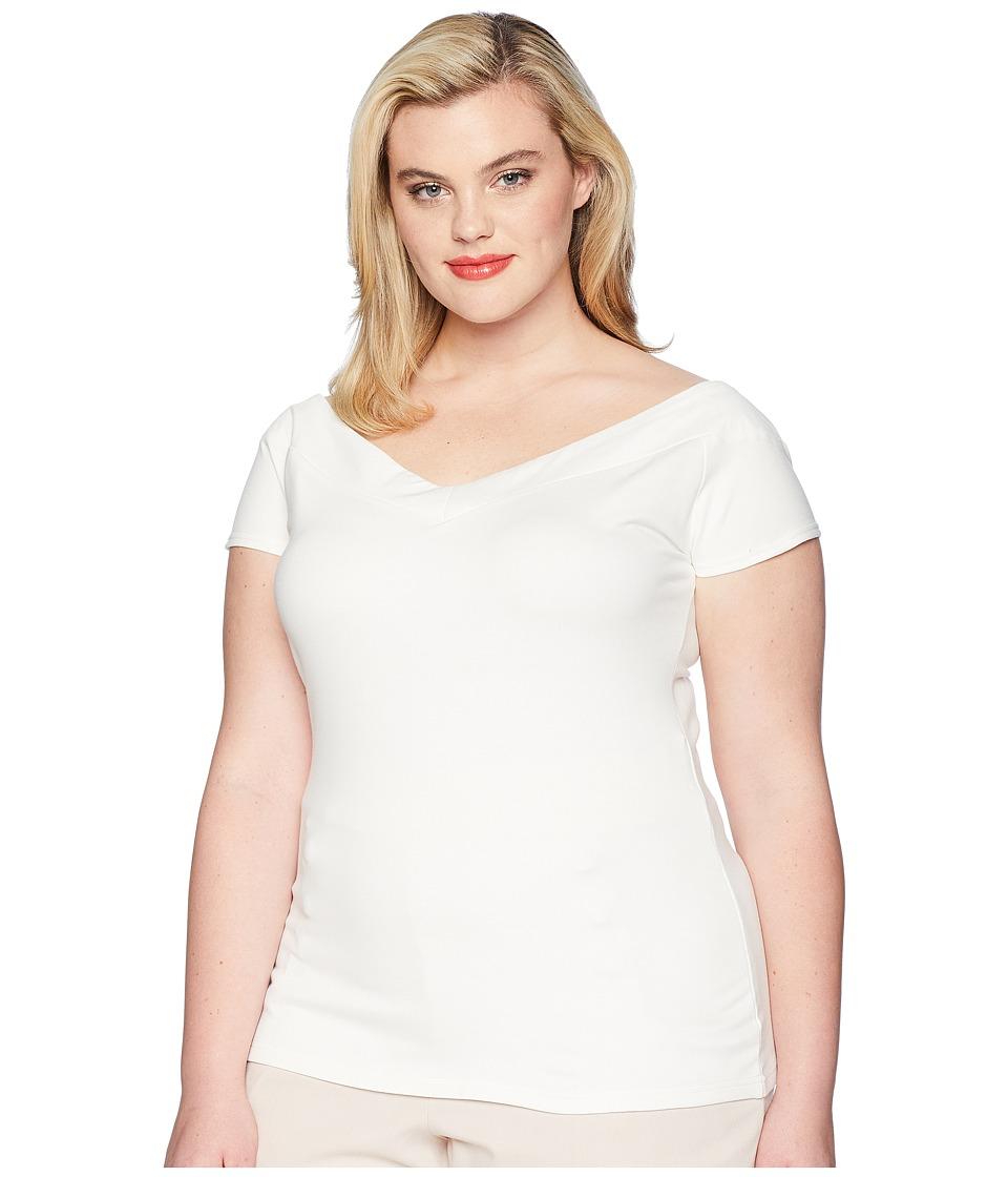 Unique Vintage - Plus Size Deena Top (White) Womens Clothing
