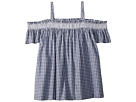 Janie and Jack Gingham Off Shoulder Top
