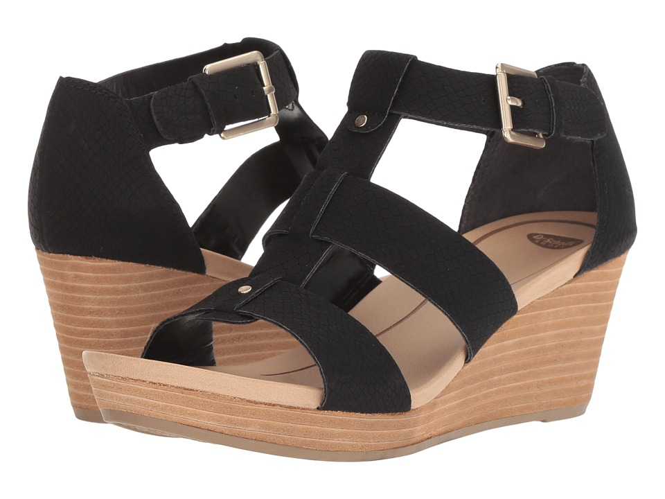 Dr. Scholl's Barton (Black Ventura Snake Print) Women's Shoes