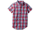 Janie and Jack Short Sleeve Button Up Shirt (Toddler/Little Kids/Big Kids)