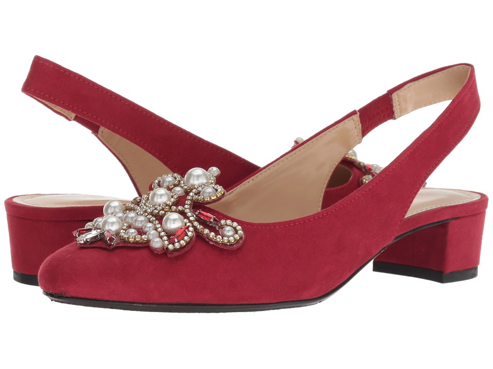 J. Renee Delroy (Red Suede/White Pearls) Women's Shoes