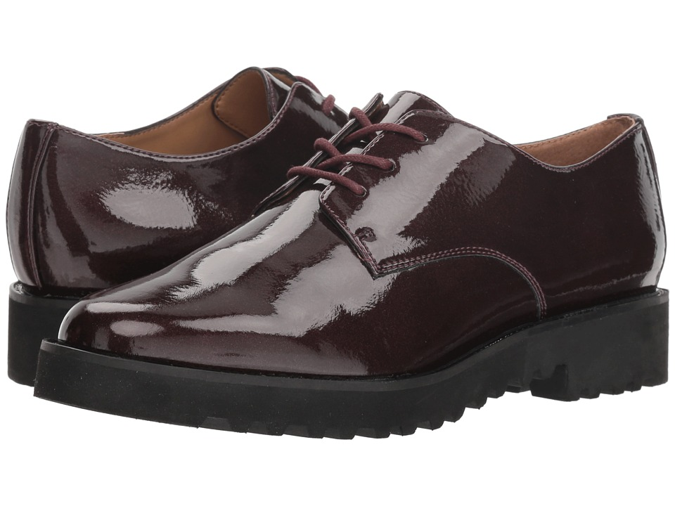 Franco Sarto L-Conroe (Wine Pearl Crinkle Patent) Women's Shoes
