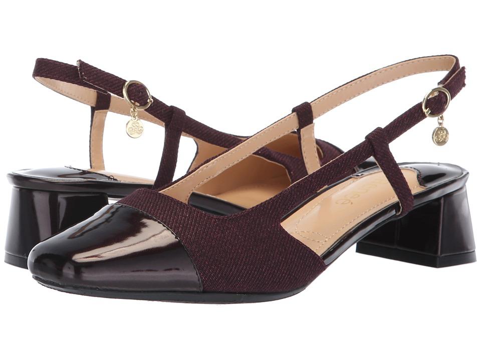 J. Renee Marcela (Wine Twill) Women's Shoes