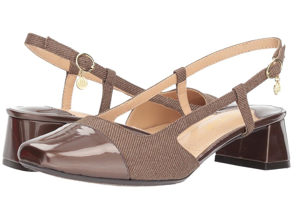 J. Renee Marcela (Cognac Twill) Women's Shoes