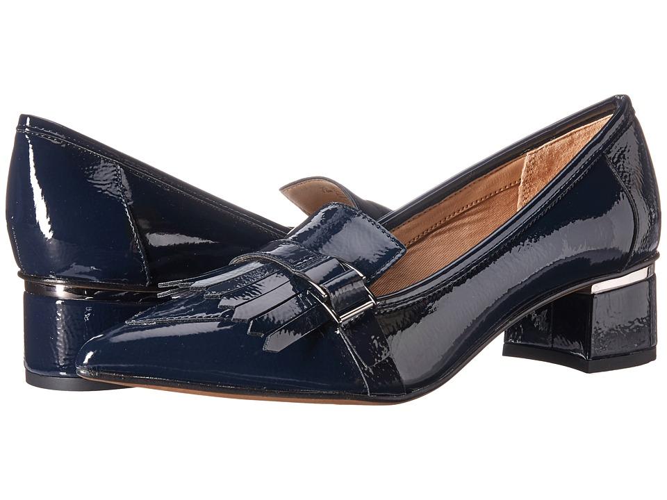 Franco Sarto L-Grenoble (Lapis Blue Crinkle Patent) Women's Shoes