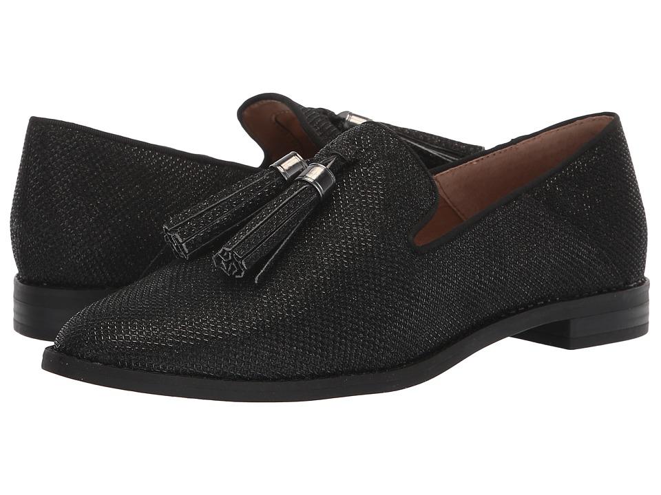 Franco Sarto L-Hadden 2 (Black Shiny Fabric) Women's Shoes