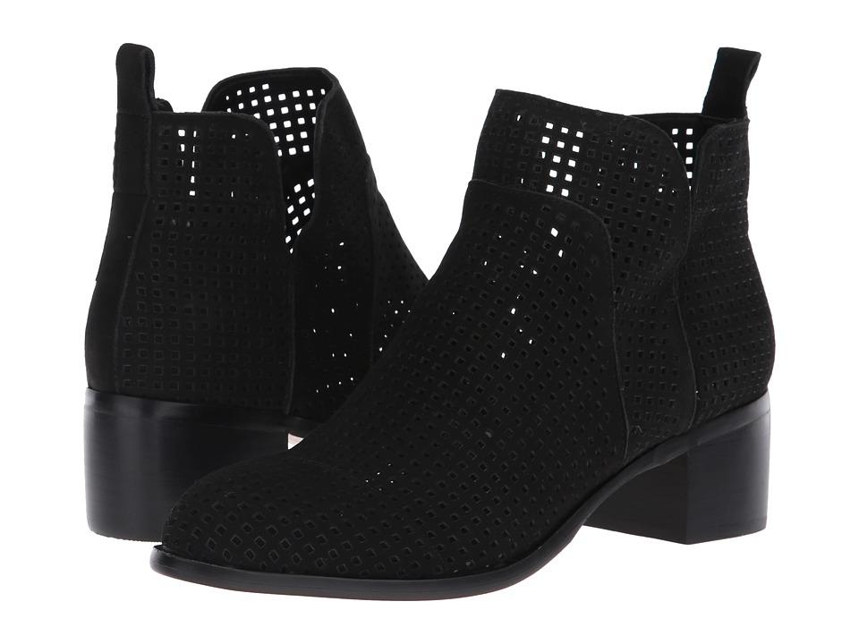 Franco Sarto L-Richland 3 (Black Smooth Satin Nubuck) Women's Shoes