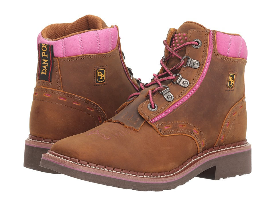 Dan Post Janesville (Tan/Purple) Women's Work Boots