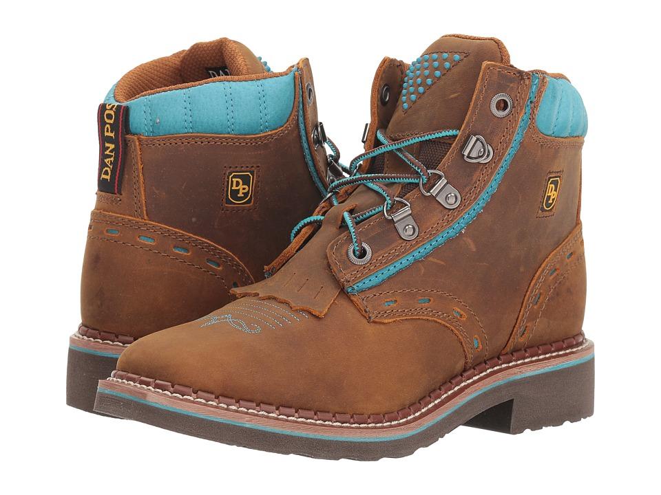 Dan Post Janesville (Tan/Turquoise) Women's Work Boots