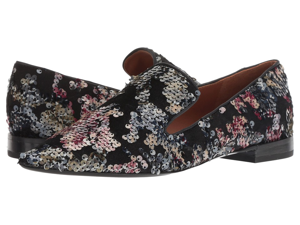 Franco Sarto A-Topaz 2 (Black Multi Floral Sequin Fabric) Women's Shoes