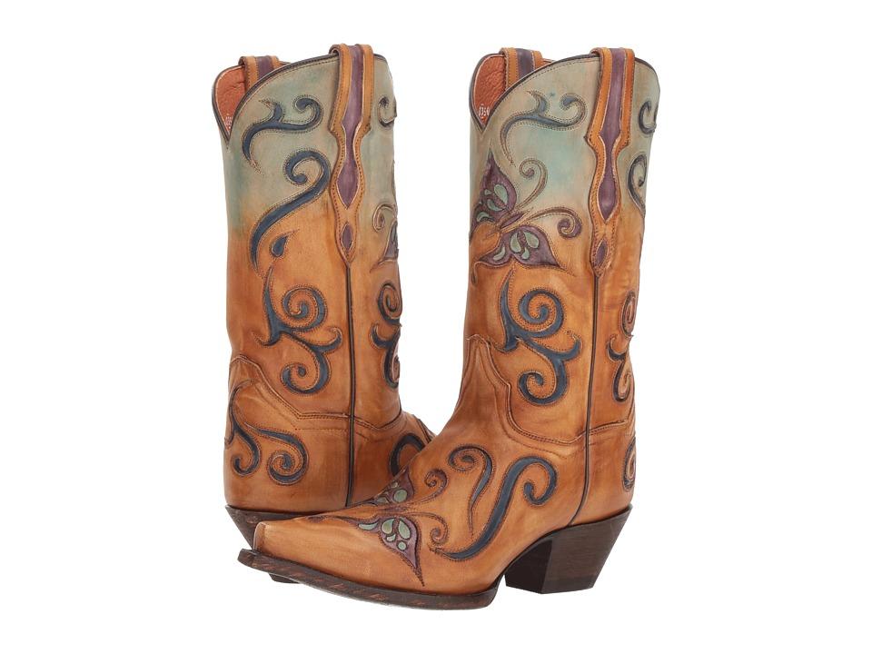 Dan Post Tyann (Tan/Turquoise) Women's Cowboy Boots