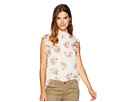 1.STATE Wildflower Flutter Sleeve Blouse