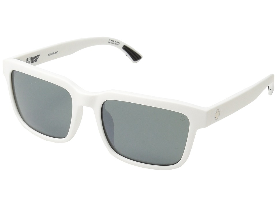 Spy Optic Helm 2 (Matte White/Happy Gray Green/Silver Spectra) Athletic Performance Sport Sunglasses