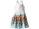 Janie and Jack Floral Border Dress (Toddler/Little Kids/Big Kids)