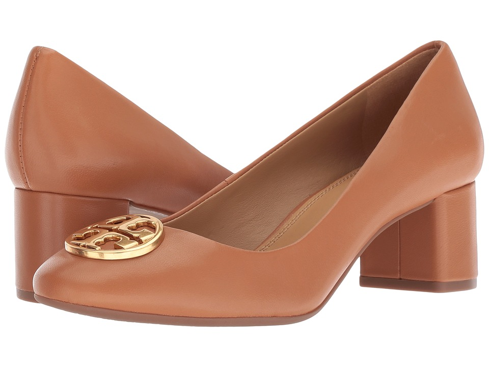 Tory Burch Chelsea 50mm Pump (Tan) Women's Shoes