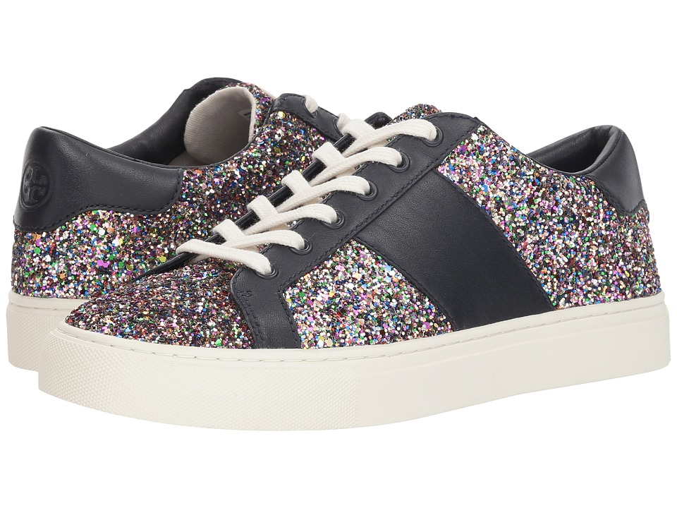 Tory Burch Carter Glitter Lace-Up Sneaker (Confetti Glitter/Perfect Navy) Women's Shoes