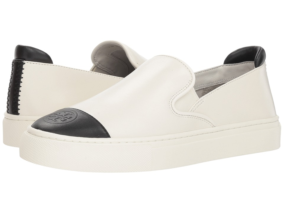 Tory Burch Color Block Slip-On Sneaker (Perfect Ivory/Perfect Black) Women's Shoes