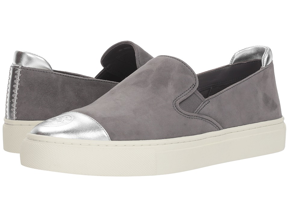 Tory Burch Color Block Slip-On Sneaker (Carbon/Silver) Women's Shoes