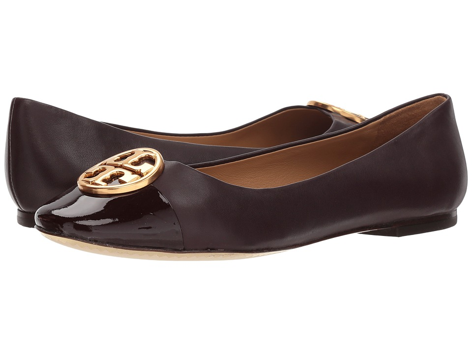 Tory Burch Chelsea Cap-Toe Ballet (Malbec/Malbec) Women's Shoes