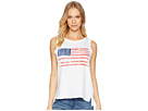 The Original Retro Brand American Flag Sleeveless Slub Tank Top