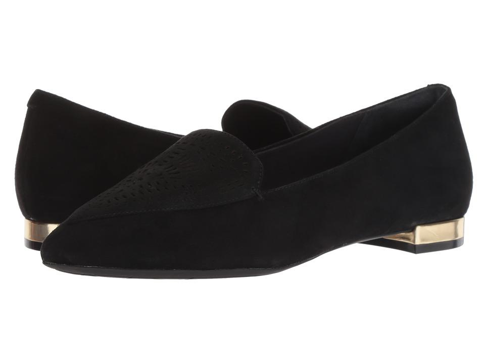 Rockport Total Motion Adelyn Laser Loafer (Black) Slip-On Shoes