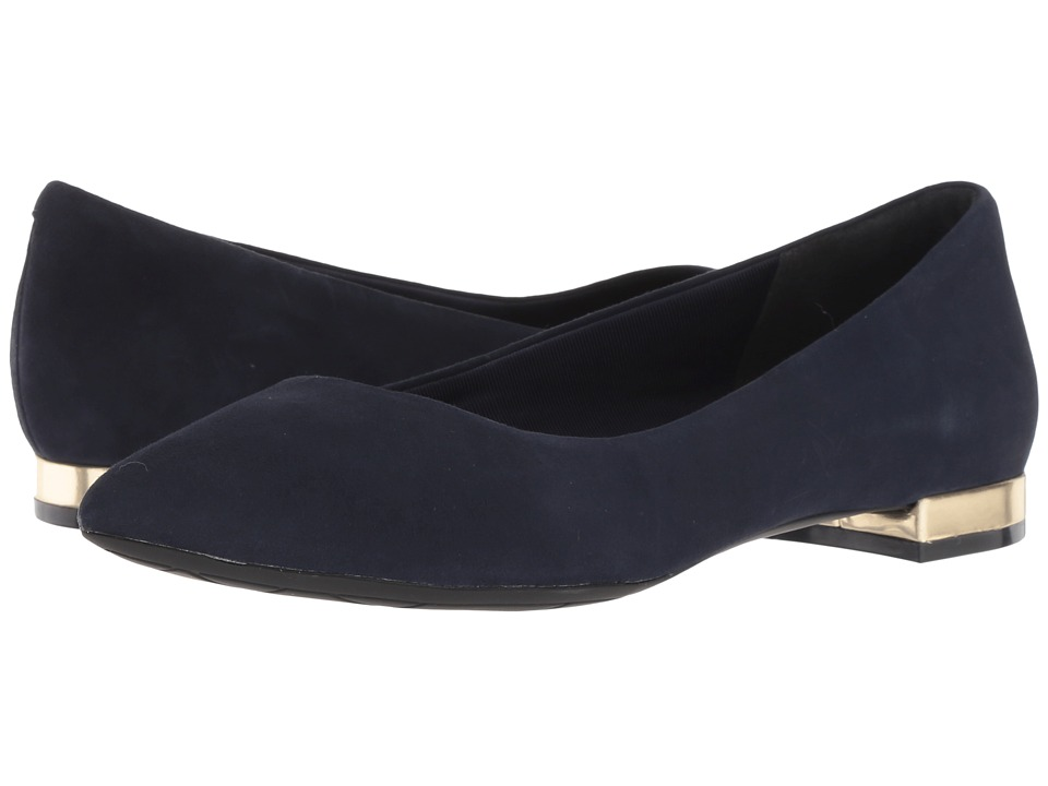 Rockport Total Motion Adelyn Ballet (Dark Sapphire Suede) Women's Dress Flat Shoes