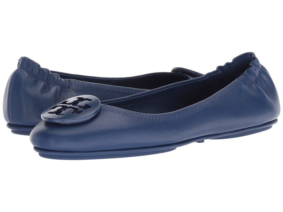 Tory Burch Minnie Travel Ballet Flat (Fresh Blueberry) Women's Shoes
