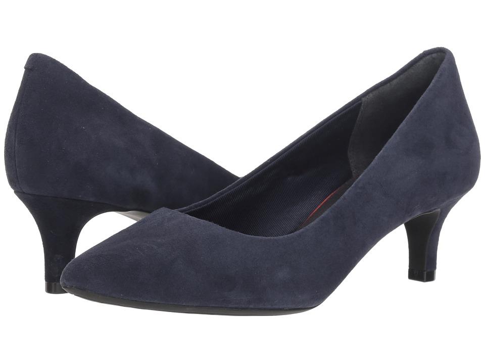 Rockport Total Motion Kalila Pump (Dark Sapphire Suede) High Heels